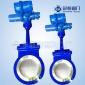 污水管道闸阀供应商 刀型插板阀PZ973H-10C DN65型电动刀型闸阀