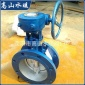 蝶阀厂家生产 煤气中线蝶阀 涡轮气动电动法兰蝶阀D343X-10
