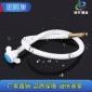 厂家供应热水器净水器管 白色pert塑料波纹管软管 水暖配件连接管
